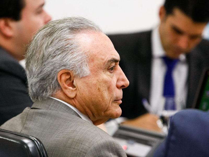Brasília - DF, 27/06/2016. Presidente em Exercício Michel Temer durante reunião com ministros do Núcleo de Infraestrutura e Líderes do governo. Foto: Marcos Corrêa/PR