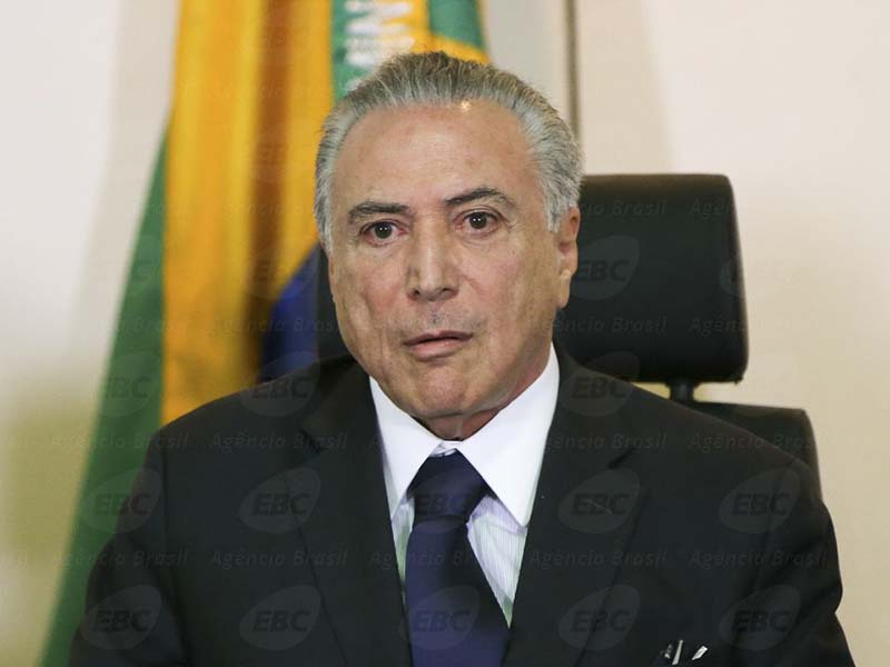 Brasília - O Presidente interino, Michel Temer, participa de reunião com os secretários de Segurança Pública de todos os Estados, no Ministério da Justiça (Marcelo Camargo/Agência Brasil)